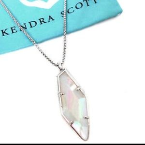 Kendra Scott, Beatrice Necklace Iridescent Silver
